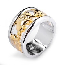 Sz5 6 7 8 9 10 11 12 2015 Top Fashion Jewellery Elephant Rings Man 10KT