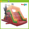 cheap giant inflatable floating water slide slide with logo print for rent