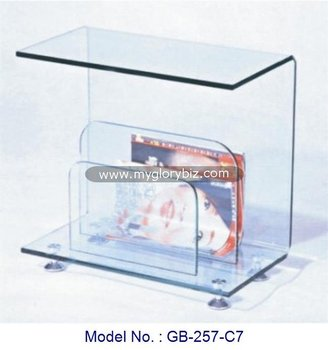 Simple Stylish Design Living Room Center Table, Bent Glass Coffee Table  Furniture, Bent Glass