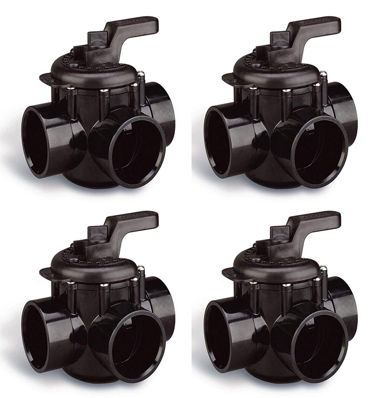 "Pentair 4 New 263028 Pool 3-Way Plumbing PVC No Lube Diverter Valves 2"" x 2.5"""