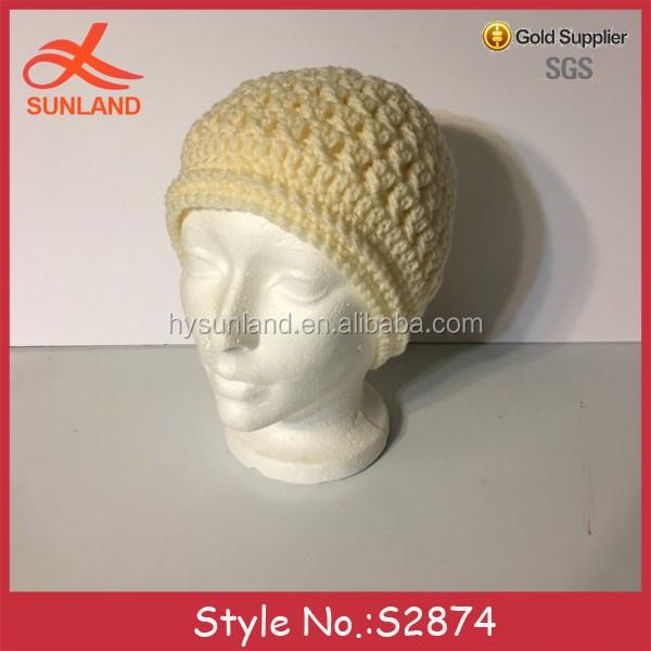 S2874 Moda 2017 Chunky Knit Crochet Patrones De Invierno Sombreros ...