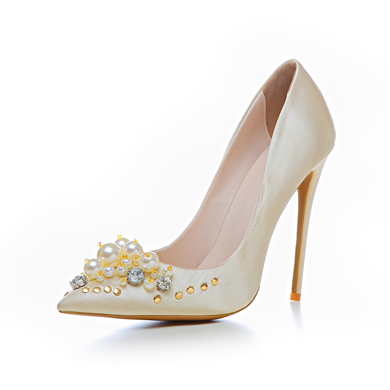 on high fashion party sexy satin slip Women heels wear luxury classic RnxaOa7