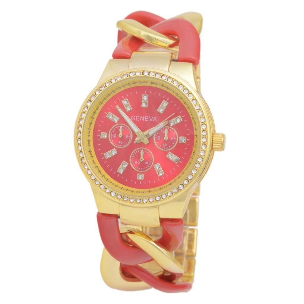 New ladies bracelet watches, Geneva watches ladies quartz watch! Relogio Masculino! Golden Red