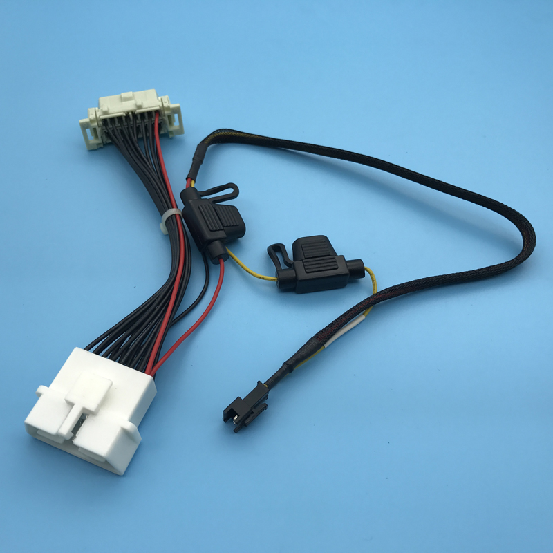 OBD2 Male To Female With Fuse Car Engine Wire Harness