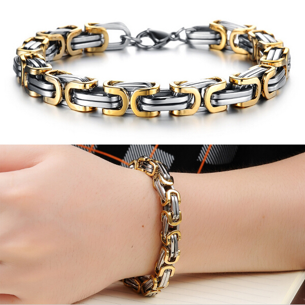 2014 Classic Design Punk 316L Stainless Steel Bracelet Special Biker Bicycle Motorcycle Chain For Mens Bracelets
