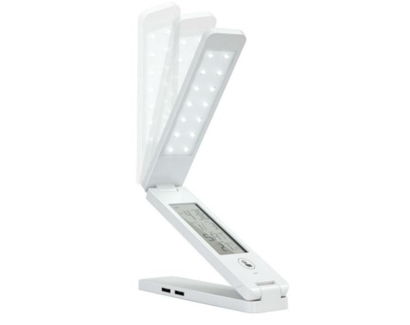 Faltbare LED leselampe buch licht idrt schreibtischlampe mit Clip ...