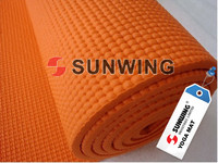 Stamping decorative branded yoga mat branded polyurethane products yoga mat customized