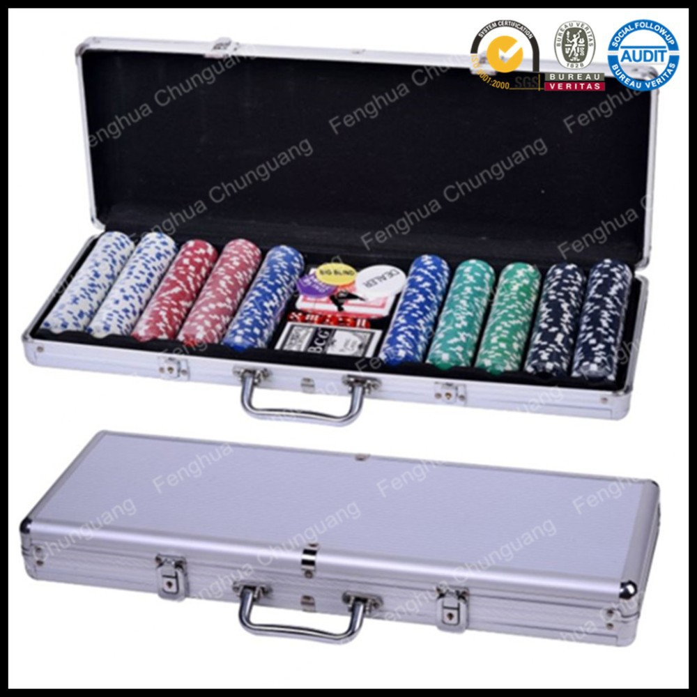 Custom Logo Case 500 Poker Chips Set