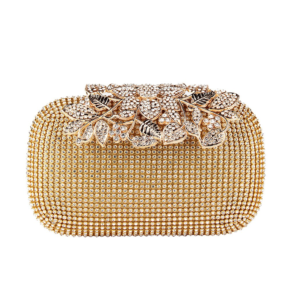 Cheap Floral Box Clutch Find Deals On Line At Elegant Fashion Brown Get Quotations Topchances Womens Evening Crystal Cocktail Wedding Party Handbag Purse Wallet Bags Rhinestone