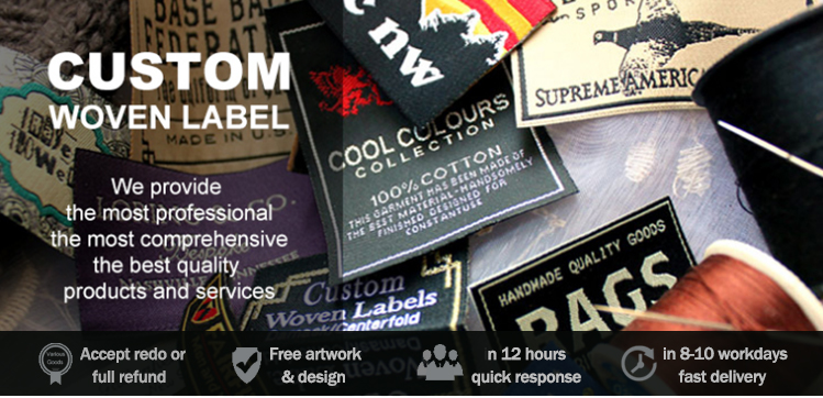 custom free sample silk recycled printed garment woven labels