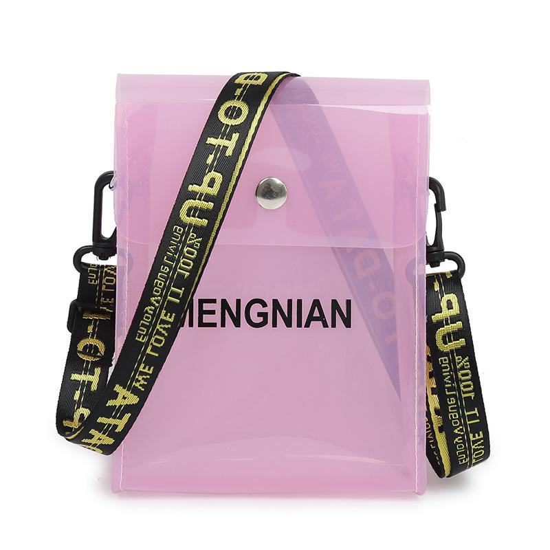 Bolso transparente de Pvc Lingge con cadena, bolso de señora