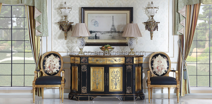 Hand Painted Louis Replica Console Cabinet & Chair Set,Noble Hall ...