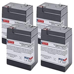 6V 4.5Ah F1 Sealed Lead Acid (SLA) Replacement Battery Set for APC Smart-UPS 400 SU400