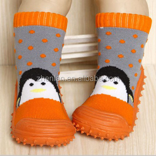 Wholesale Cute Cartoon Knitted Thick Rubber Sole Baby Shoe