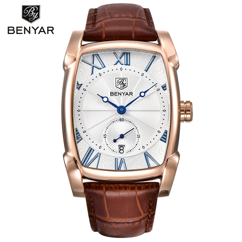 BENYAR Luxury Brand Men's Watch <strong>Date</strong> 30m Waterproof Casual Quartz Sport Watch