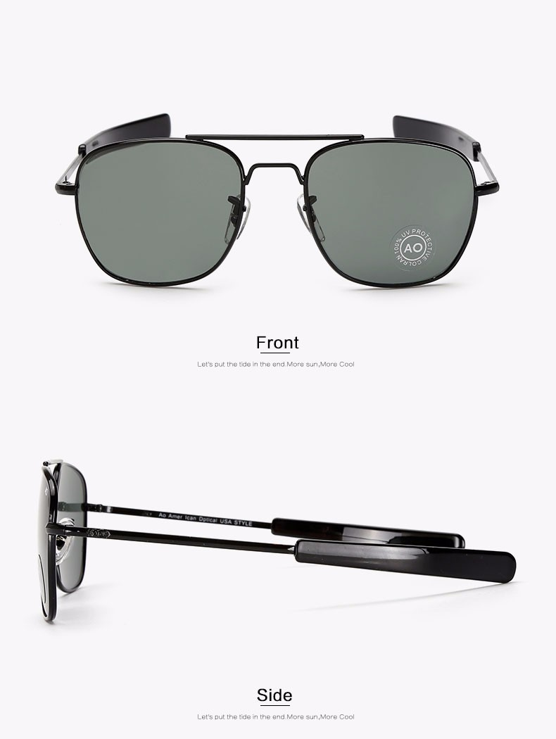 7158e9941b7c6 Moda Óculos De Sol Dos Homens Do Exército Americano Designer De Marca  Militar AO Óculos De