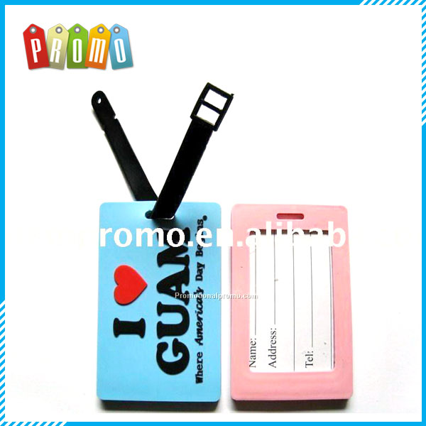 Customized 3D design Soft PVC luggage tag