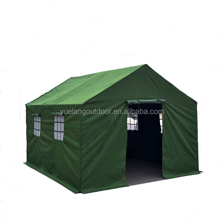Disaster resistant materials tents army use 12 person military tent
