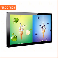 TFT type 43 inch LCD LED Wall Mounted advertising digital signage,wall mounted pc all in one touch kiosk advertising display