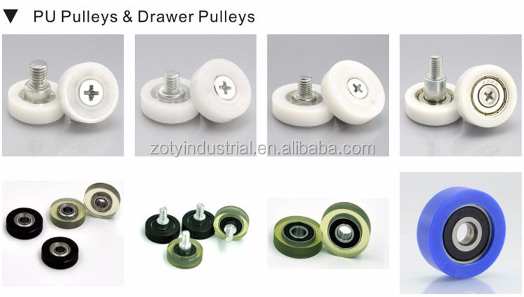 DR22 Plastic drawer Roller 22mm nylon ball bearing drawer rollers DR-22