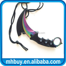 CS GO Hunting Counter Strike Global colorful Karambit Knife Black / Silver / Rainbow