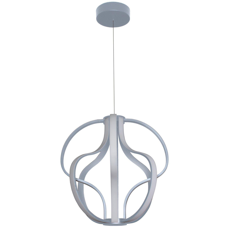 "VONN VMC32430AL Modern 21"" Led Chandelier, Adjustable Hanging Light, Modern Globe Chandelier Lighting, Capella Collection, Aluminium"
