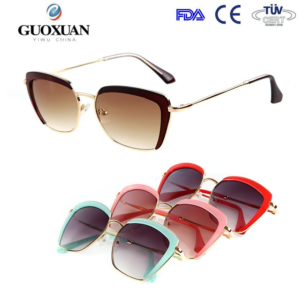 Itália design ce óculos meia armação praça mulheres fio el óculos de ... 02bc5ecb10