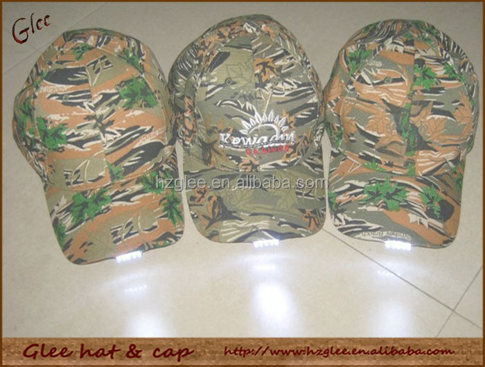 Camo Hunting LED Side Glow Hat