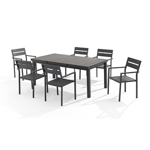 New Fashion Detachable Aluminum Frame Patio Furniture Dining Set