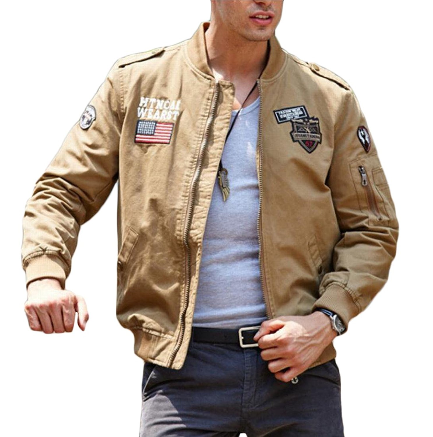 de0424ec304 Get Quotations · GAGA Men s Army Outdoor Military Special Ops Softshell  Tactical Jacket Hunting Jacket