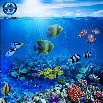Hd Beludru 3d Wallpaper Untuk Dinding Mural Bunga Beach Pola Hewan