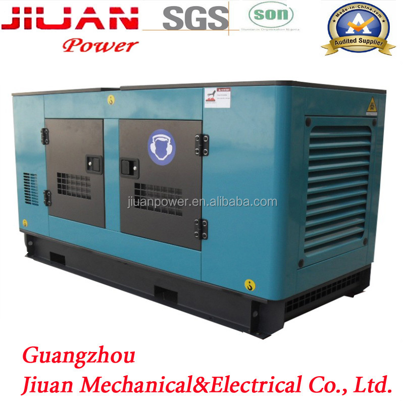 silent diesel power electric generator guangzhou price sale for 35 kva commins set