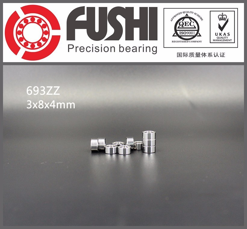 693ZZ Shielded Miniature <strong>Bearings</strong> 3mmx8mmx4mm 693z P5 Metric Deep Groove Ball <strong>Bearing</strong> 693-2Z