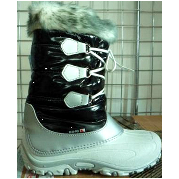 Wholesale white warm lace-up waterproof snow woman boot winter with fur