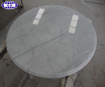 White Round Marble Slab Table Top