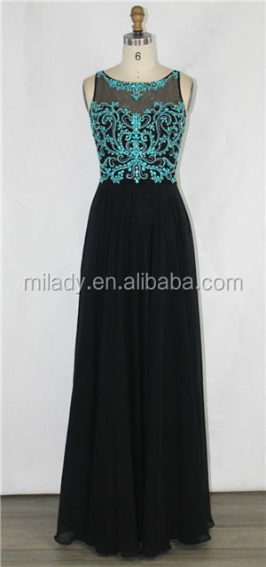 Spring new elegent A-Line chiffon prom&evening dress