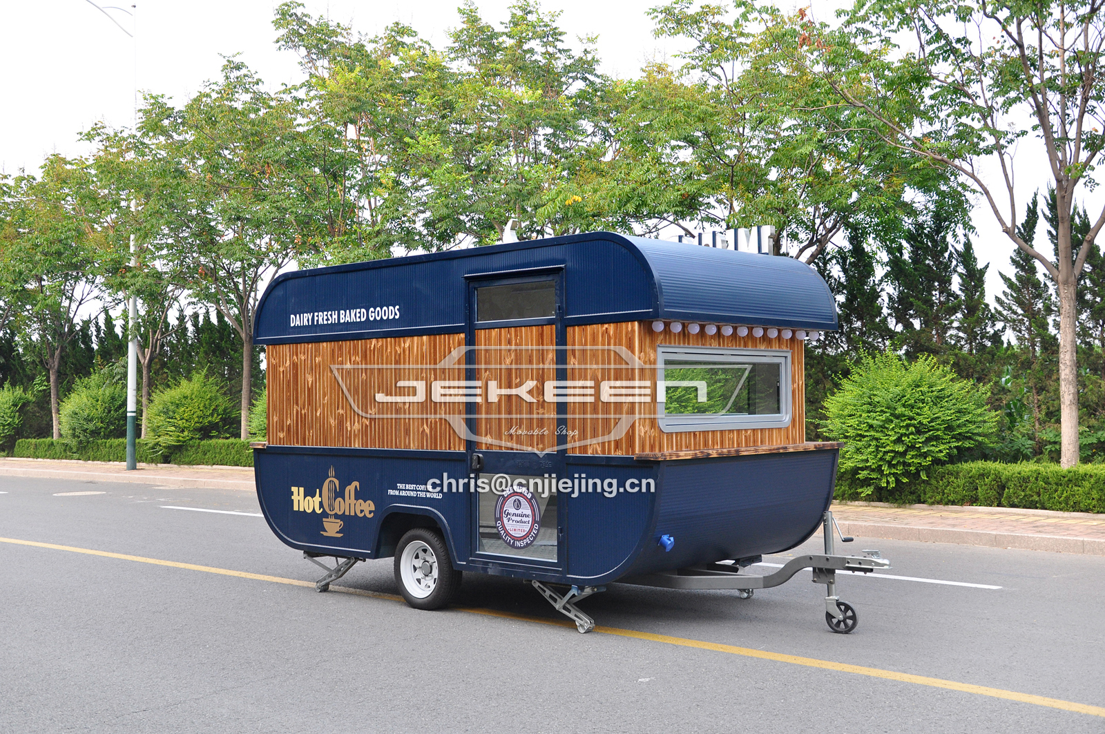 JEKEEN high quality customized food truck trailer of MOSHE