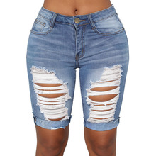 <span class=keywords><strong>Frauen</strong></span> Über-knie Länge Rippen Denim <span class=keywords><strong>Kurze</strong></span> <span class=keywords><strong>Jeans</strong></span>