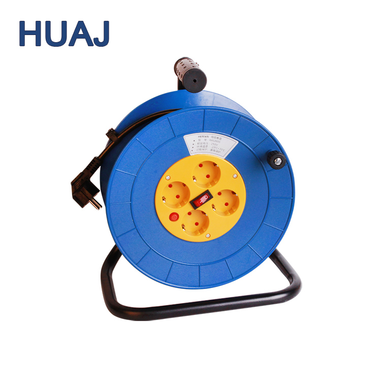Brake Handle Integration Outlets Cable 30M 50M Extension Power Cord Reel
