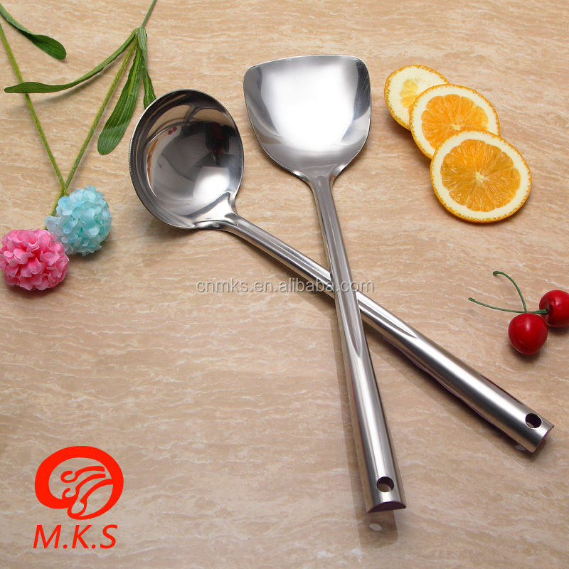 2017 new high quality cooking stainless steel scoop cooking utensils kitchen ware made in China