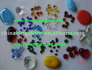 Glass PEBBLES For Wallflooring Or Concreteterrazzo Coating