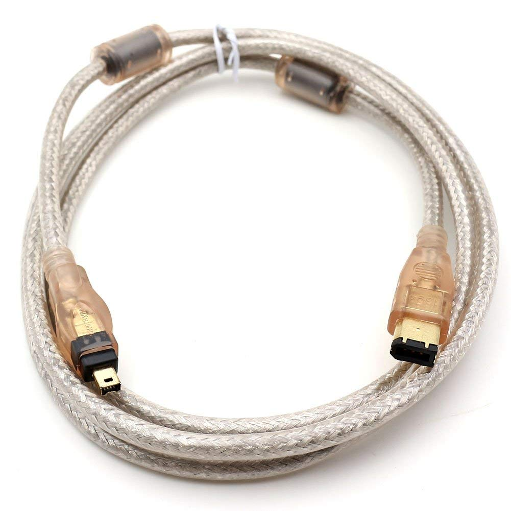 DV Cable iLInk Cable,6 to 4 P 24 K IEEE 1394 Firewire in DV DV iLink Fiwire Cable 3 Ft
