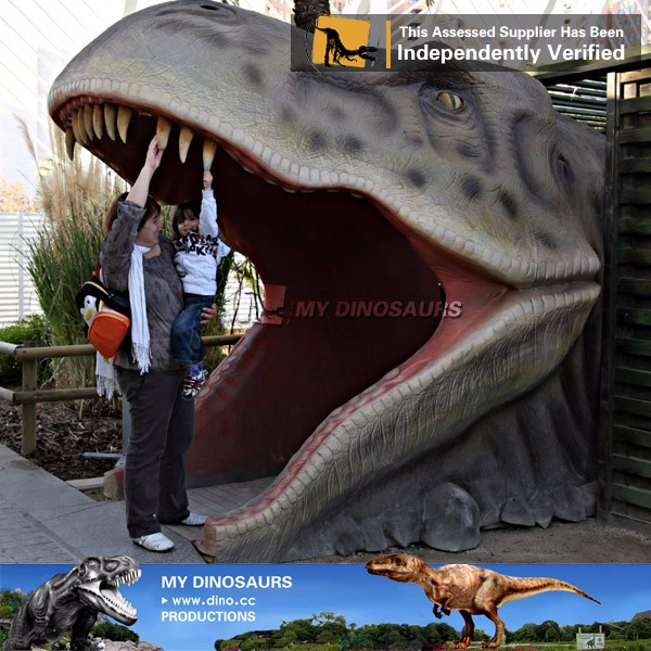 My Dino-Life size dinosaur statues head for garden decoration