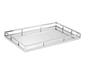 New Style Silver Finishing Mirrored Rectangular sliver plated mirror Tray wine/tea serving tray