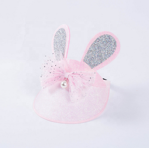 2019 Bling Visor Baseball Cap Rabbit Ear Decorate Kids Sun Visor Cap Hat