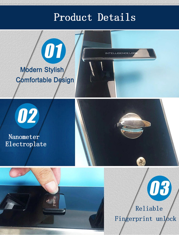 Door Knob Lock Wireless Hotel Rfid Card Lock With Software And ...