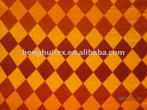 100% polyester Tangerine /saffron yellow Argyle polar Fleece Fabric