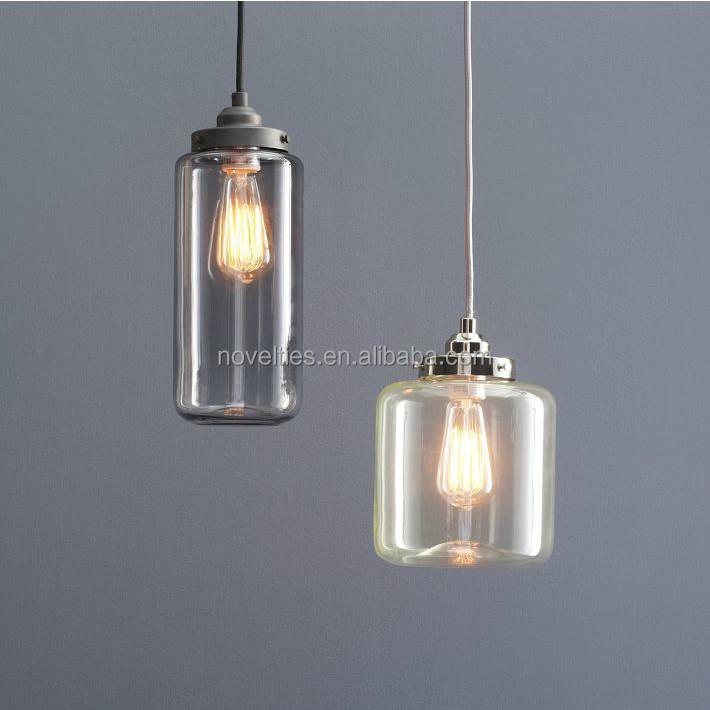 vaso di vetro moderno lampada a sospensione lampada da cucina ...