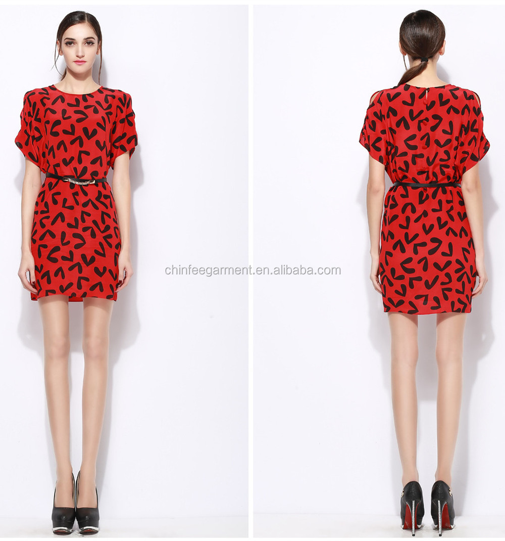 D197 European Design Fashion Dress Guangzhou Ladies Clothings