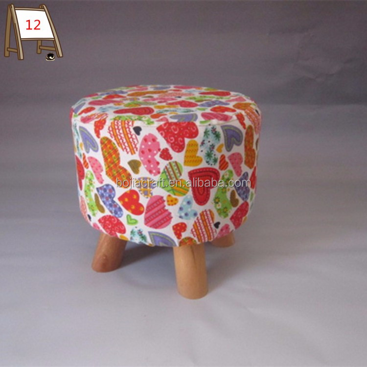 wooden small shoes sitting foot stool home furniture